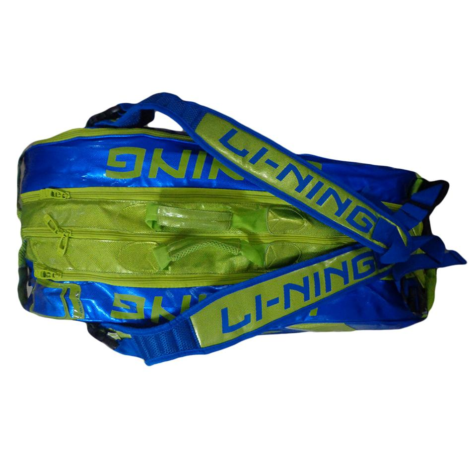 d27f9c655b1f LiNing ABDG352 Badminton Kit bag Blue and Lime - Buy LiNing ABDG352 ...