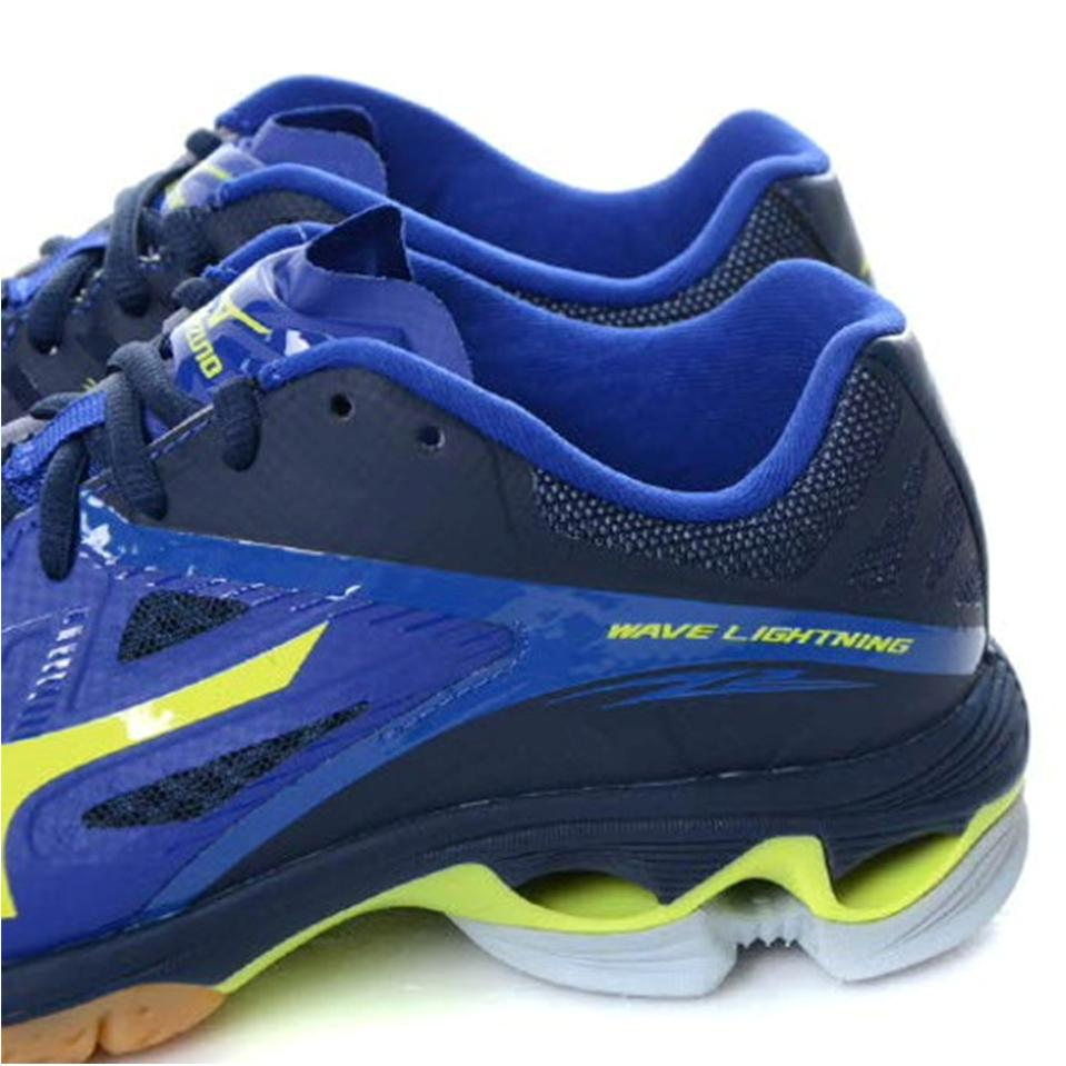 Mizuno Mens Wave Lightning Z2 Mid Top Surf the web and Neon Yellow ... bdf72fc3df