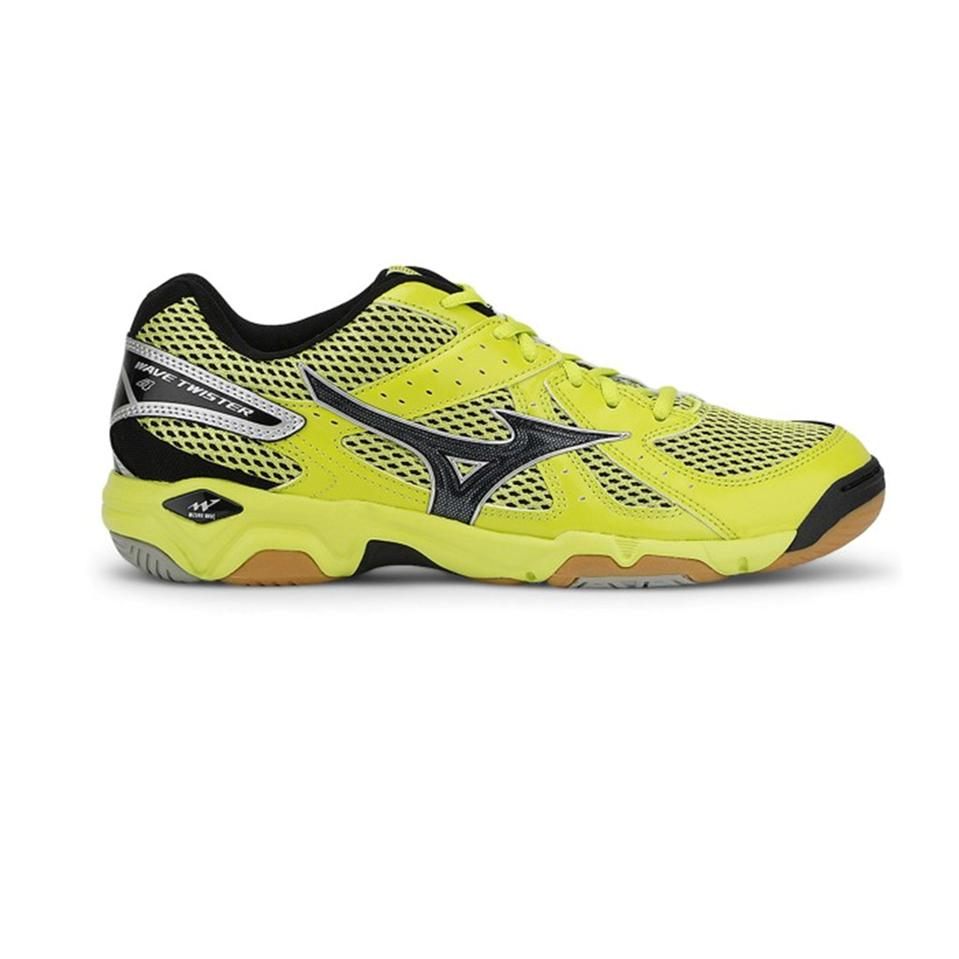 9e6f24d7b9cb Mizuno Wave Twister 4 Shoes LimePunch and Black and Silver - Buy ...