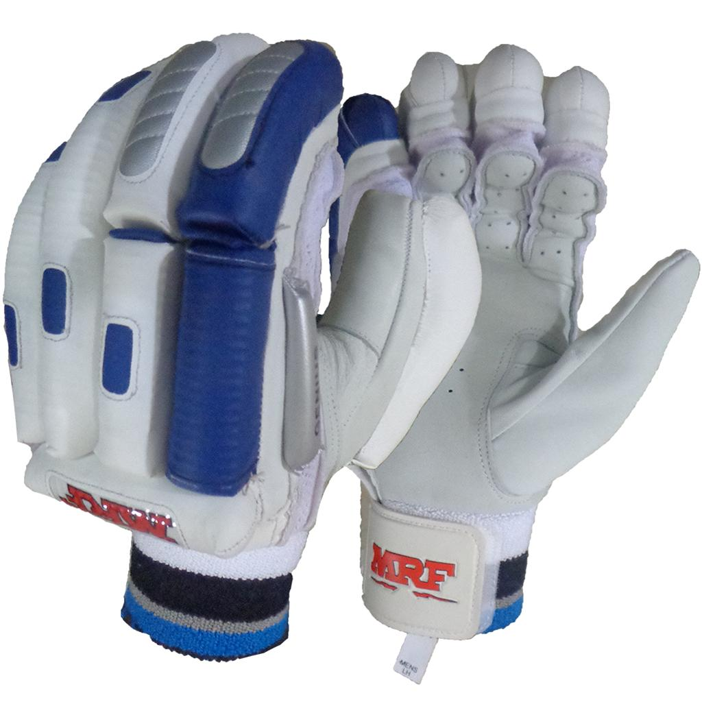 98450a39946 MRF Genius Grand Edition Cricket Batting Gloves White and Blue - Buy ...