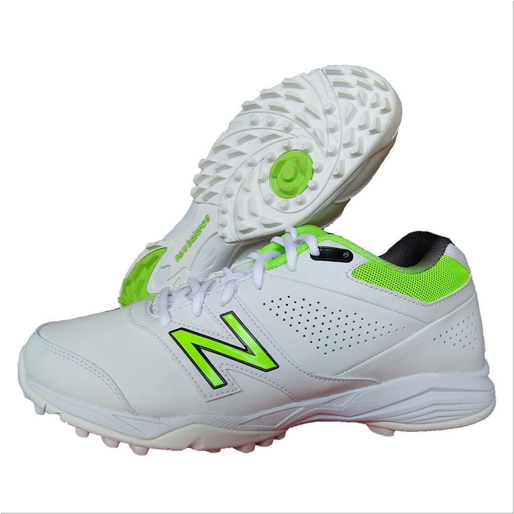 7f4f5bc9e21 New Balance CK4020 W3 Cricket Shoes White and Fluo Green