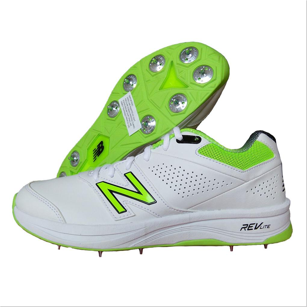 ef9144c30803c New Balance CK4030 W3 Cricket Shoes White and Fluo Green - Buy New ...