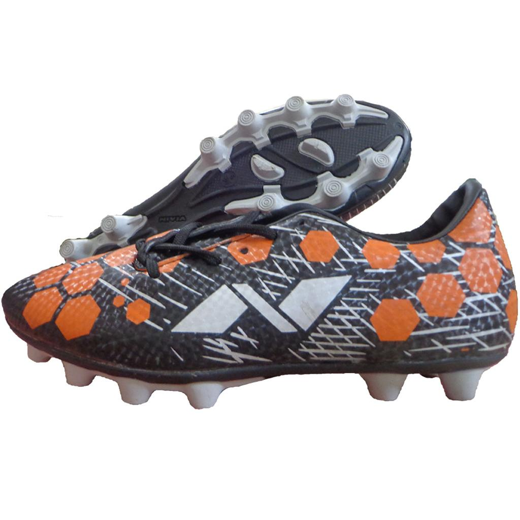 Nivia Raptor Football Stud Shoes Black And Orange Buy