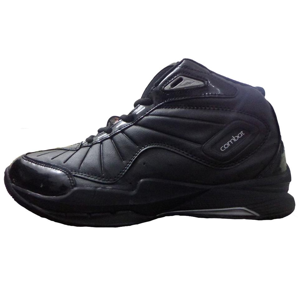 nivia combat 1 basket ball shoe black