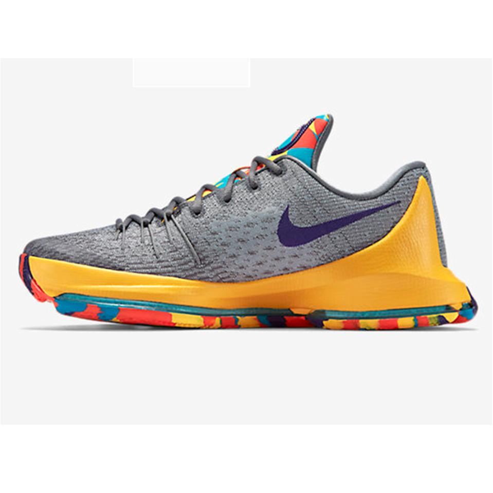 89ecca5e7558 Nike KD 8 Basket Ball Shoe Gray and Yellow - Buy Nike KD 8 Basket ...