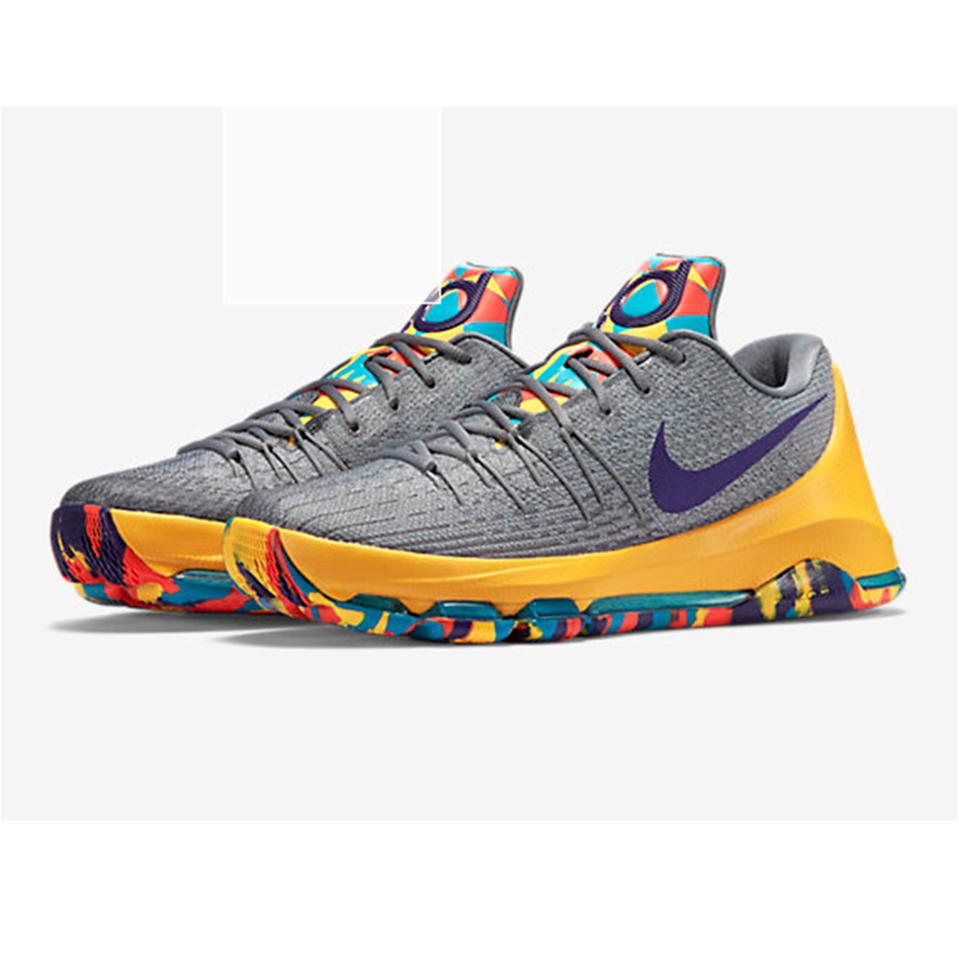 Nike Kd 8 Basket Ball Shoe Gray And Yellow Buy Nike Kd 8