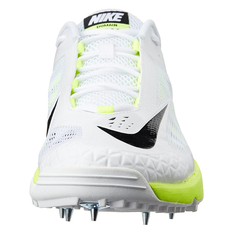 new product 6b44c a2129 Nike Domain Cricket Spike Shoes White and Green