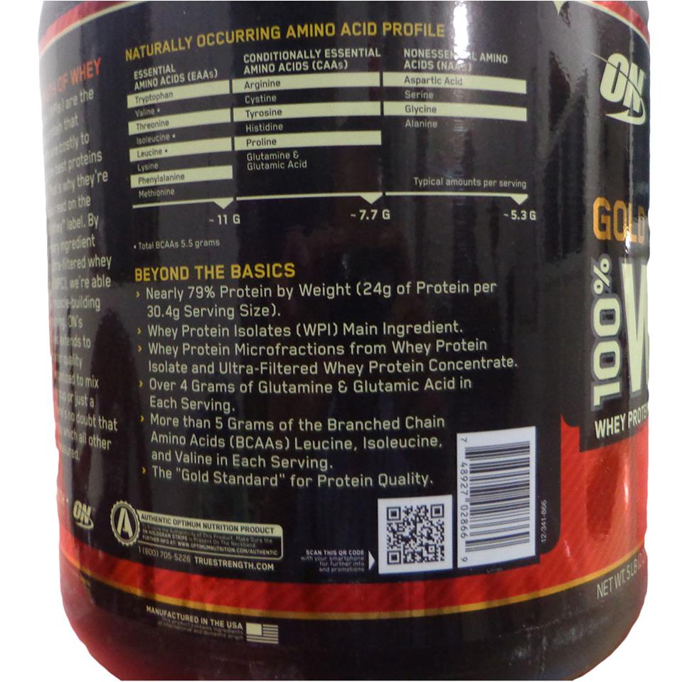 7fc70fbb65df ON (Optimum Nutrition) Gold Standard 100 % Whey Protein Double Rich ...