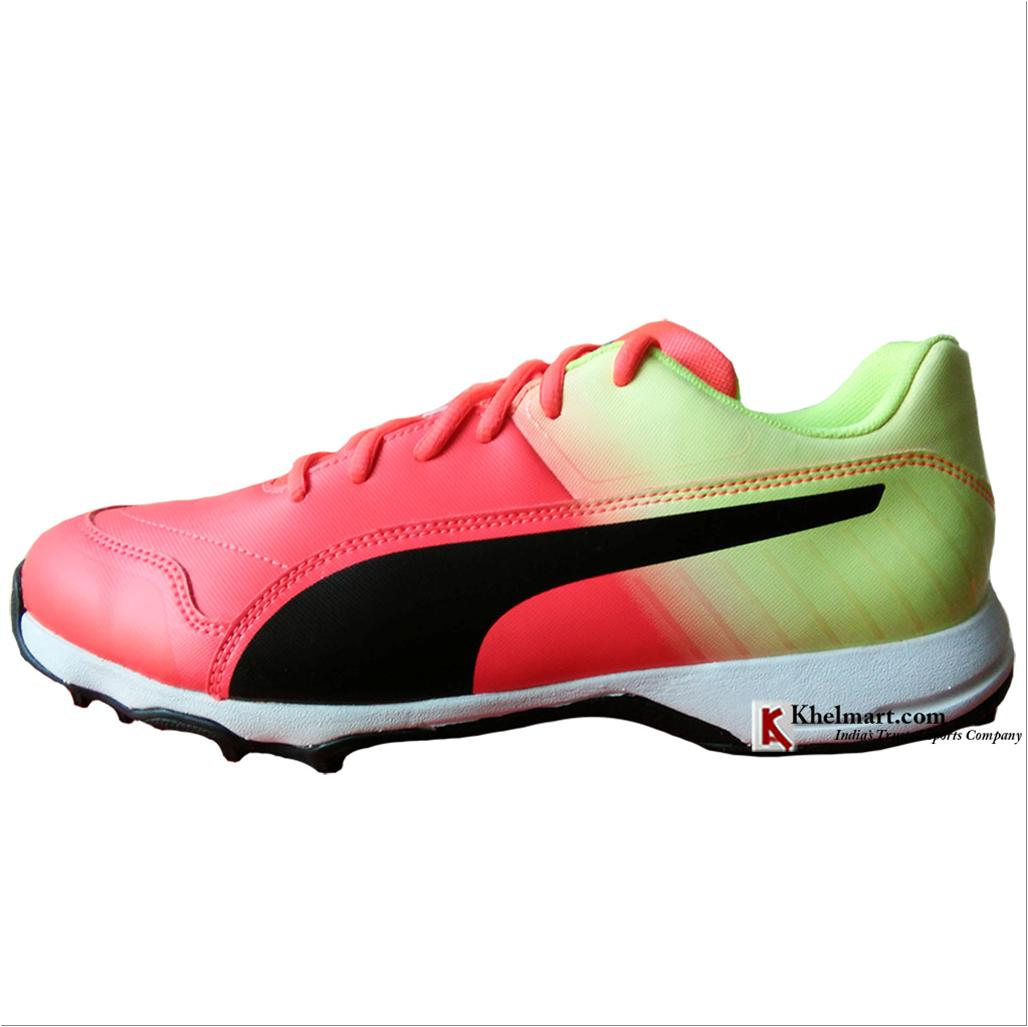 36ea585b77a Puma EvoSpeed one 8 R Fade Cricket Shoes Red and Blast Yellow - Buy ...