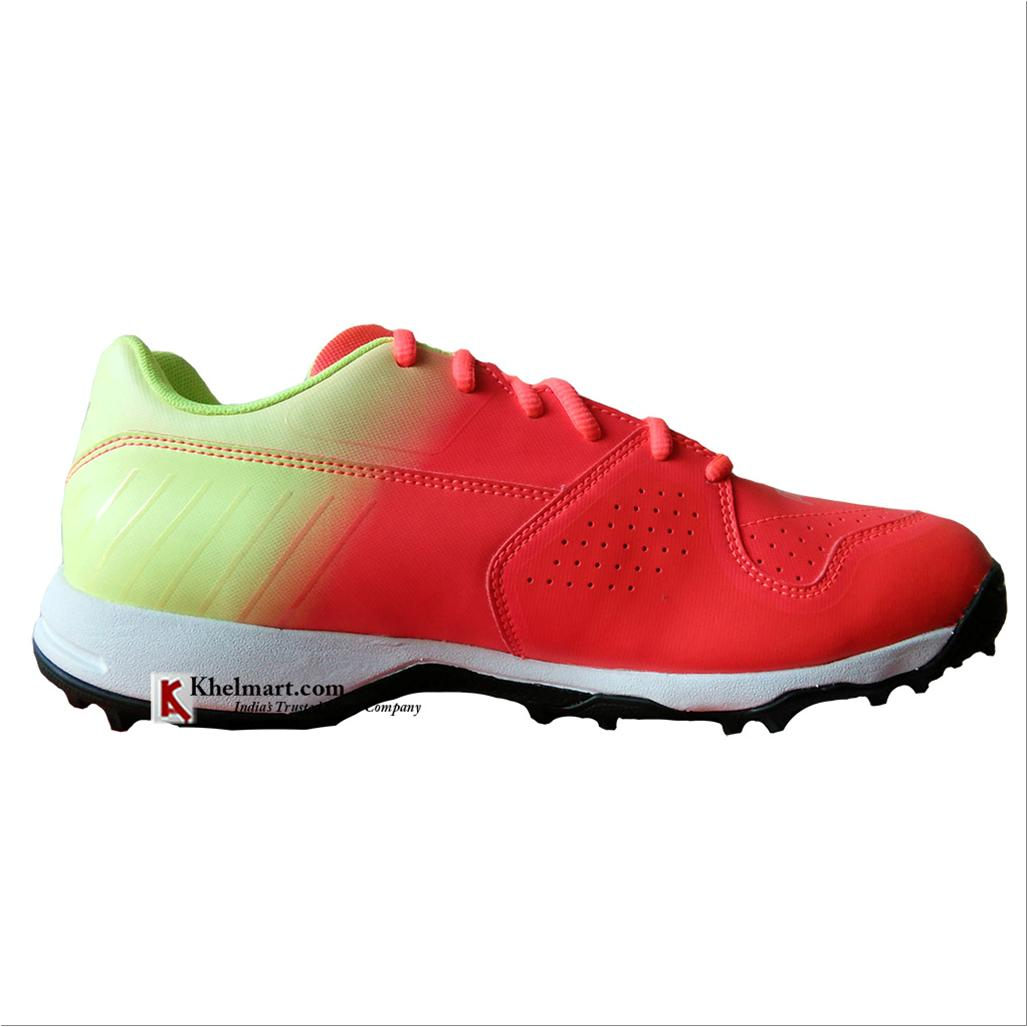 Puma EvoSpeed one 8 R Fade Cricket Shoes Red and Blast Yellow - Buy ... 55ce00db7