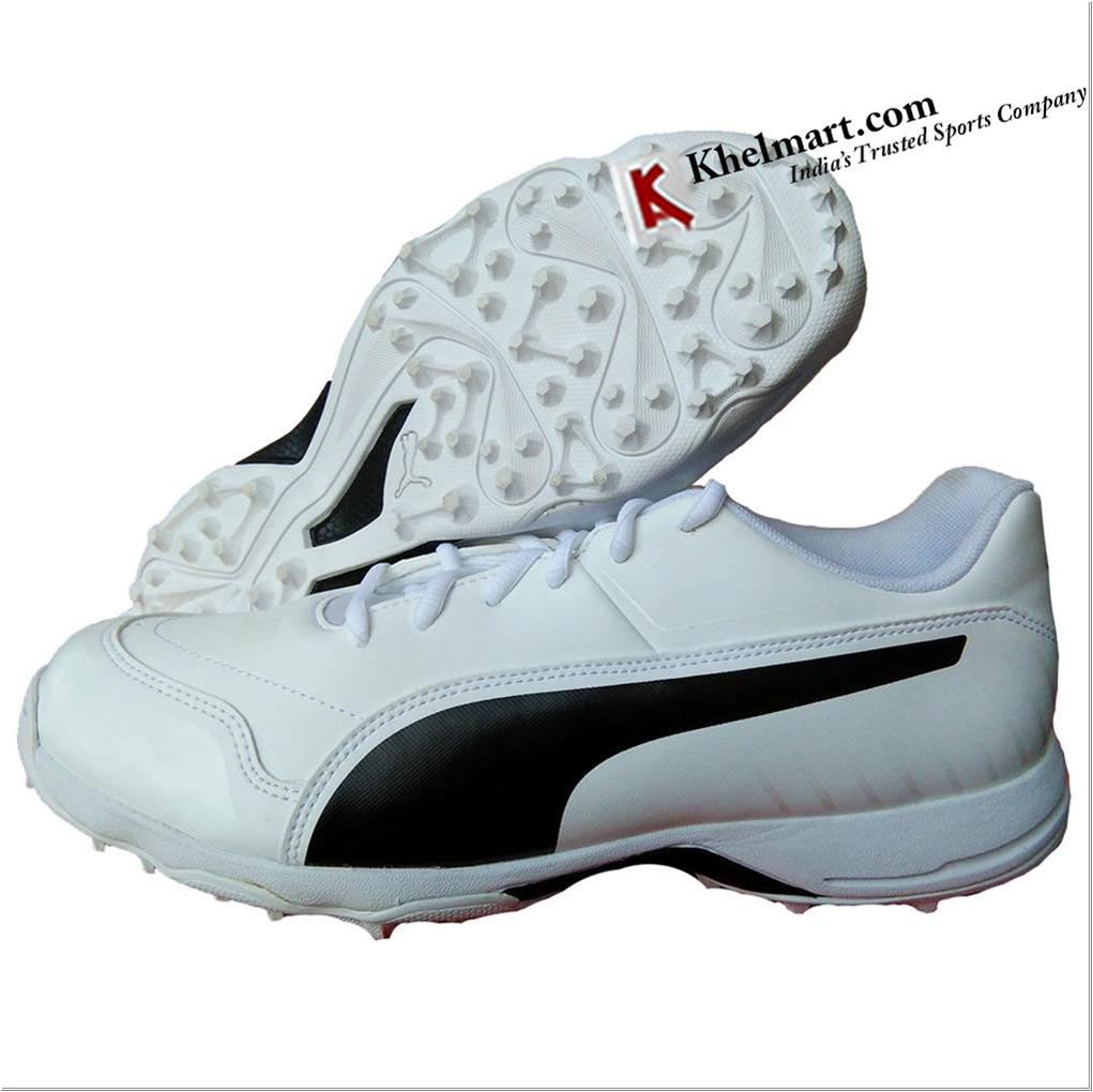 4d75515e4b6 Puma EvoSpeed one8 R Virat Kholi Cricket Shoes White and Black - Buy ...