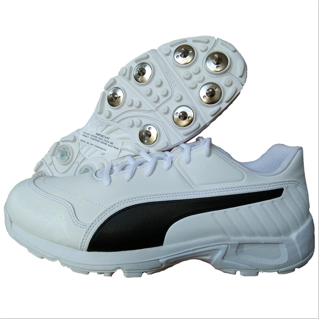 000c8b90f58646 Puma EvoSpeed 18.1 C Spike Cricket Shoes White and Black - Buy Puma ...