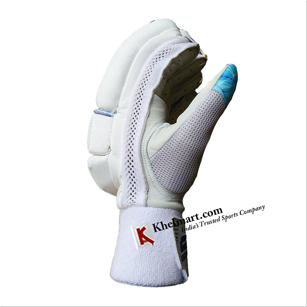 Sf Testlite Batting Gloves White And Sky Blue Buy Sf