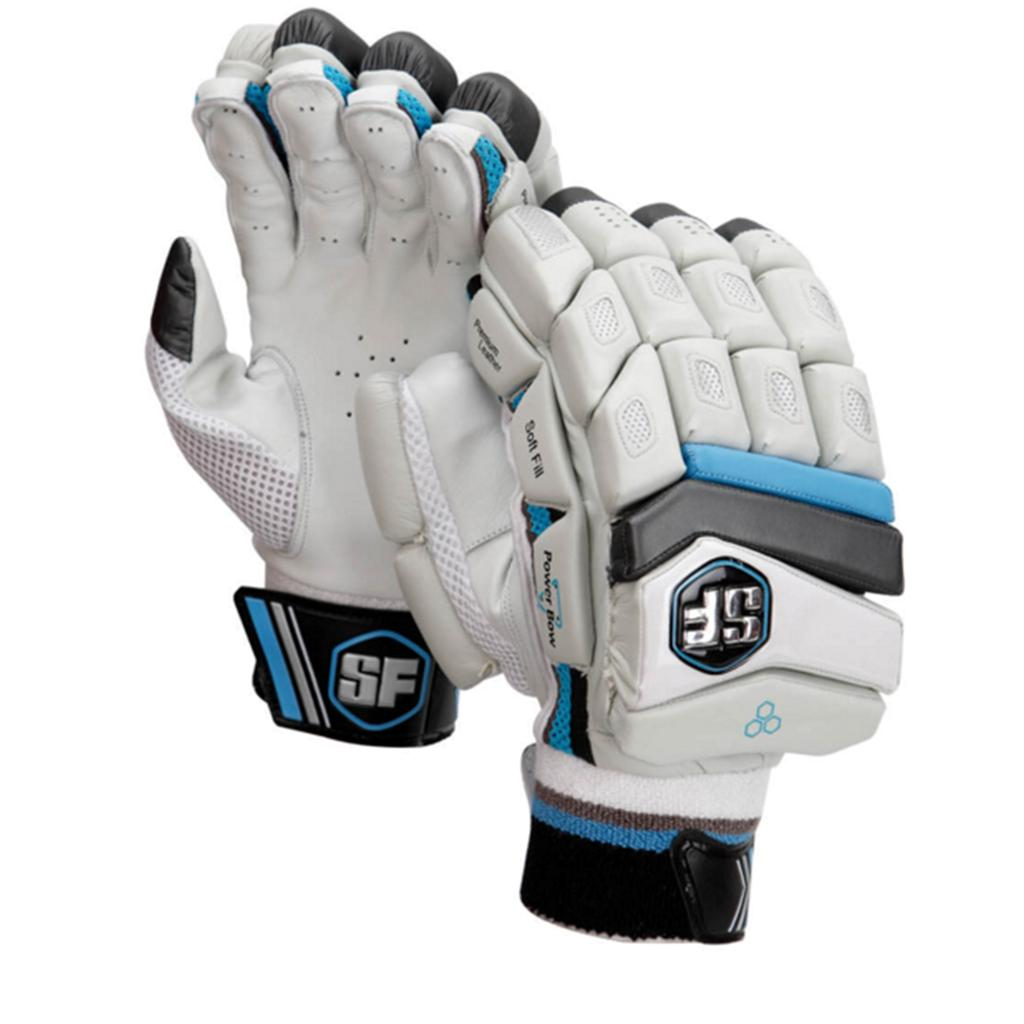 SF Power Bow Batting Gloves White And Black