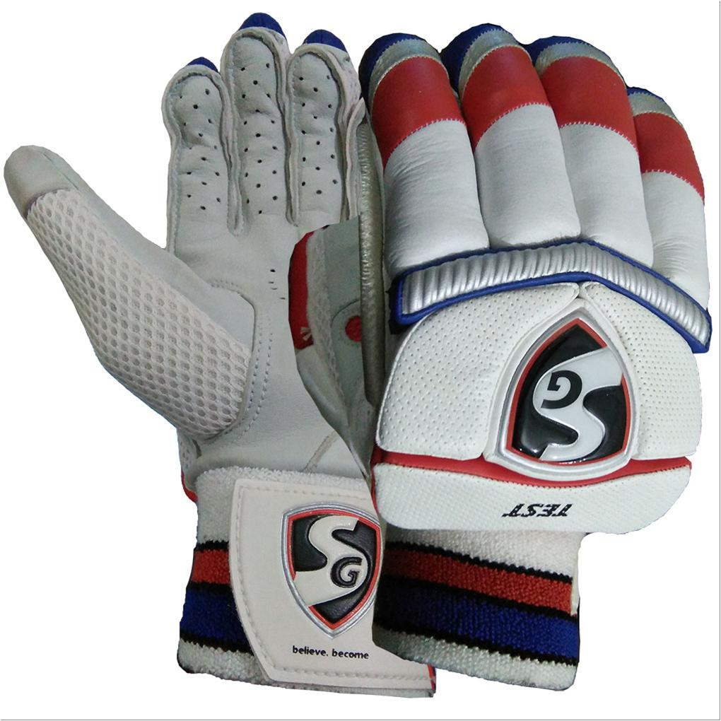 5788ea3f9f3 SG Test Cricket Batting Gloves White Black and Red - Buy SG Test ...