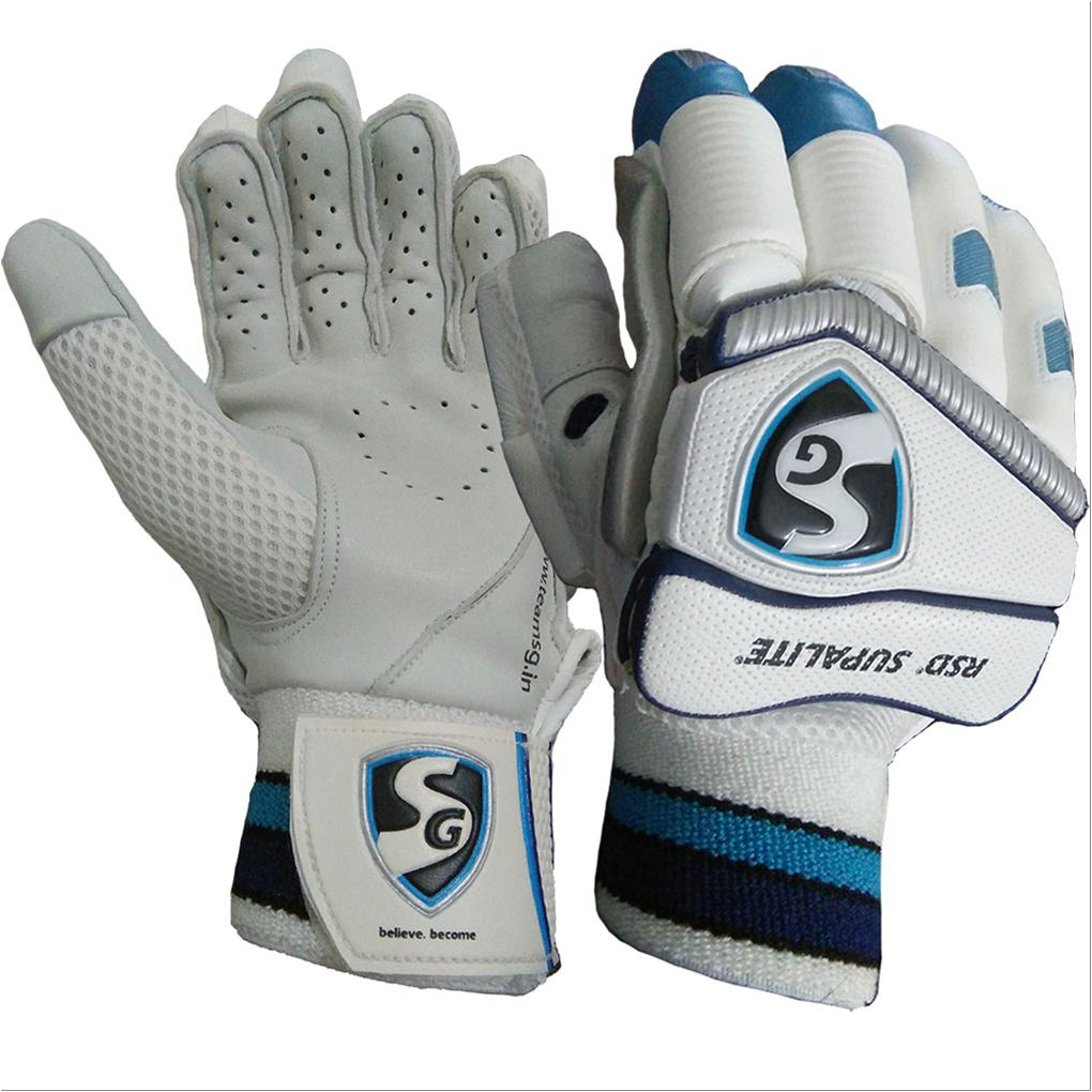 Sg Rsd Supalite Batting Gloves White Blue And Silver Buy