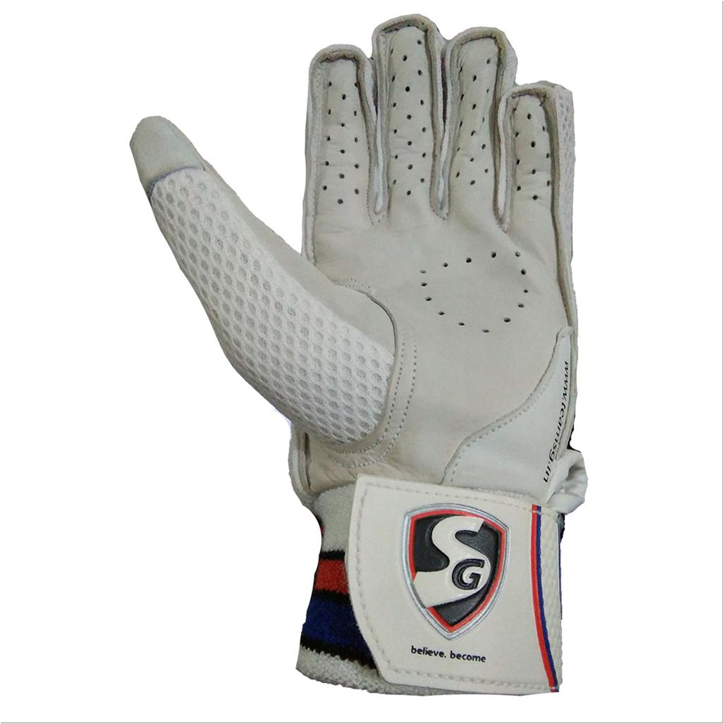 Sg Excelite Batting Gloves White And Blue Buy Sg