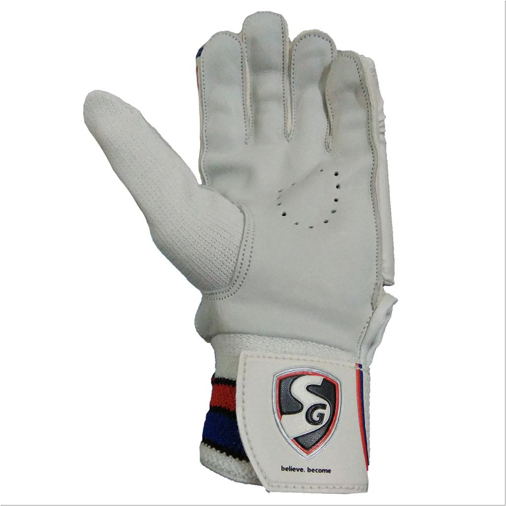 Sg Cricket Batting Gloves Elite White Red And Black Buy