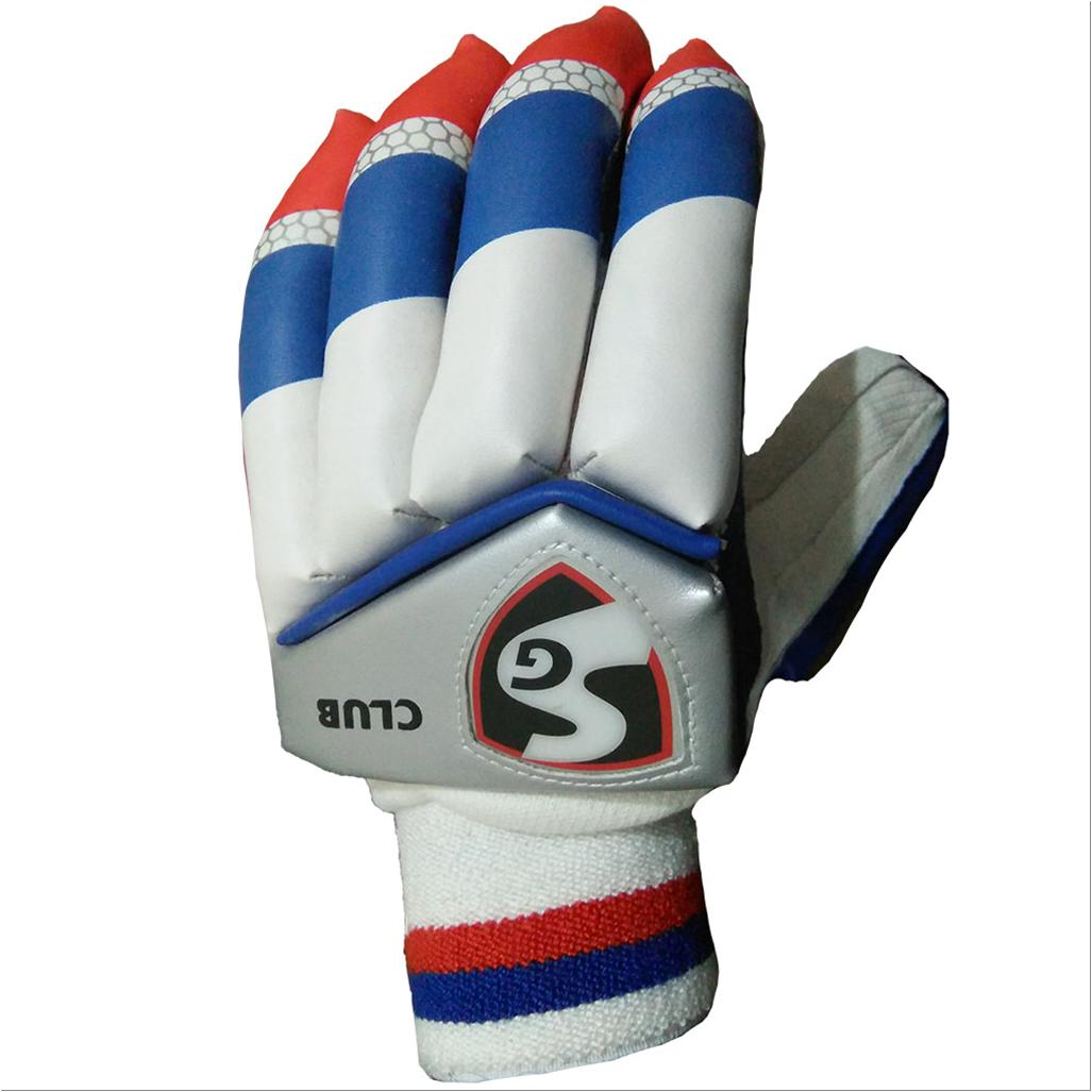 fd4c2d70811 SG Club Cricket Batting Gloves White Blue and Red Left Hand - Buy SG ...