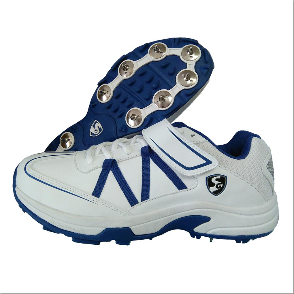 48ef67e30d SG Xtreme 4.0 Full Spike Cricket Shoes White and Blue - Buy SG ...