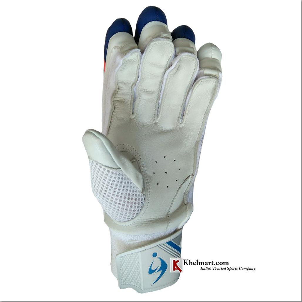 Sm Sway Batting Gloves White And Blue Buy Sm Sway