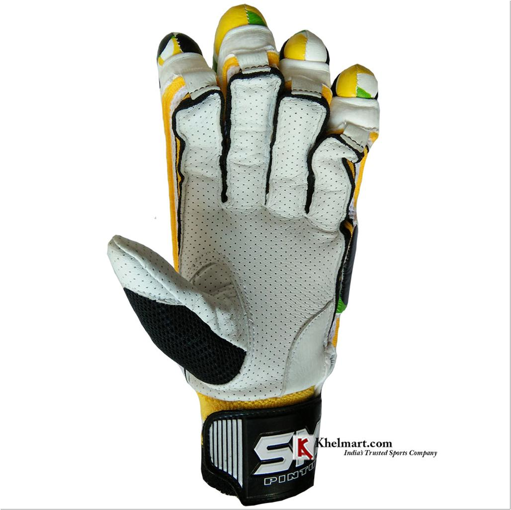 Sm Emerald Batting Gloves White And Yellow Buy Sm