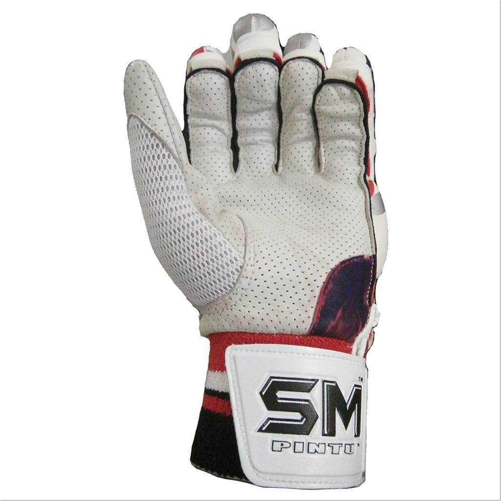 Sm Emerald Batting Gloves White And Red Buy Sm Emerald