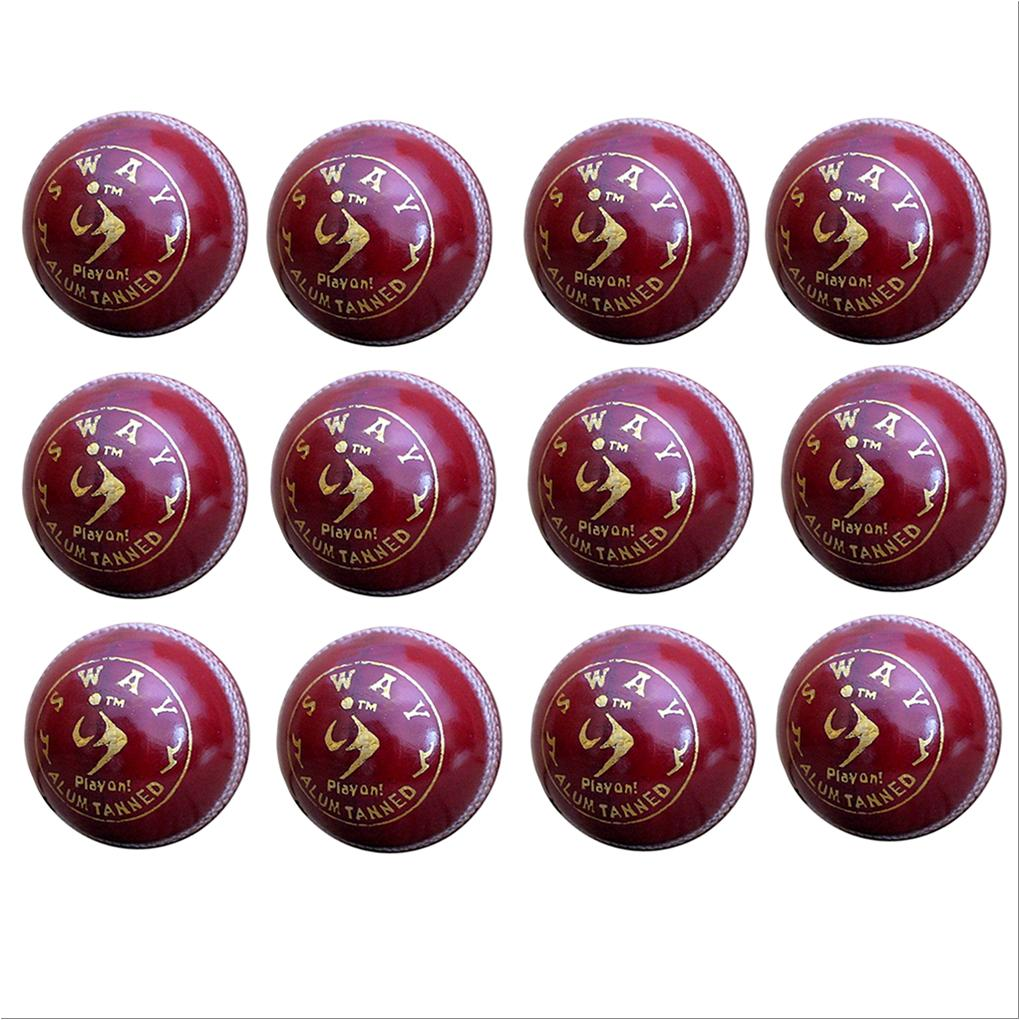 7dca1ce5d92 SM Sway Alum Tanned Cricket Leather Balls 12 Ball Set - Buy SM Sway ...
