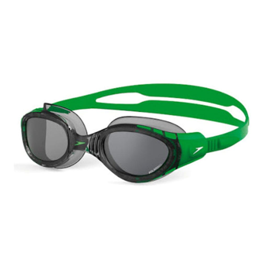 0b23cfc74ae Speedo Futura biofuse Polarised Swimming Goggles Black and Green ...