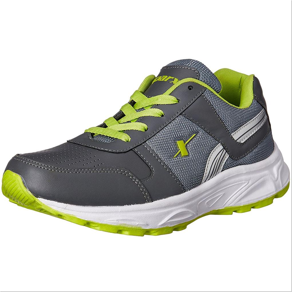 another chance 96a49 f5bc9 Sparx Running Shoes Dark Grey and Lime