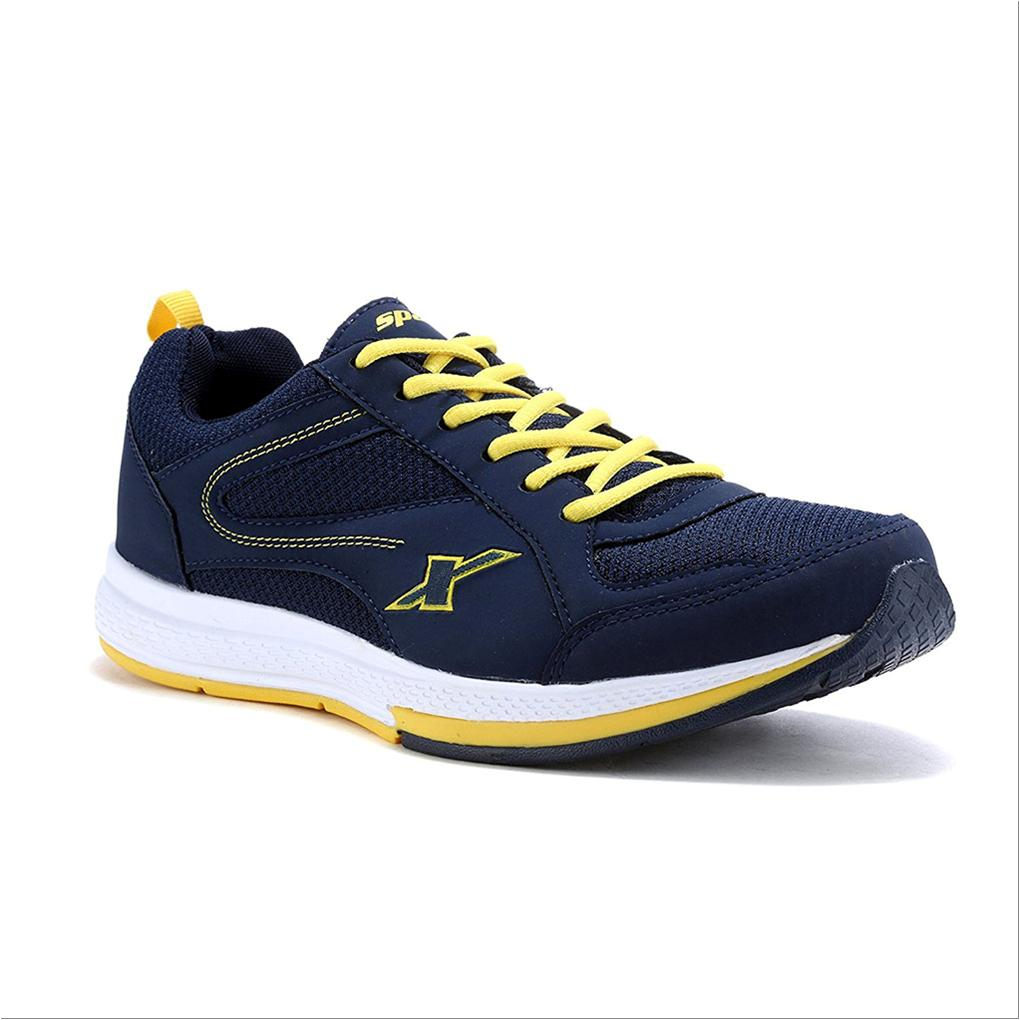 Blue And Yellow Running Shoes