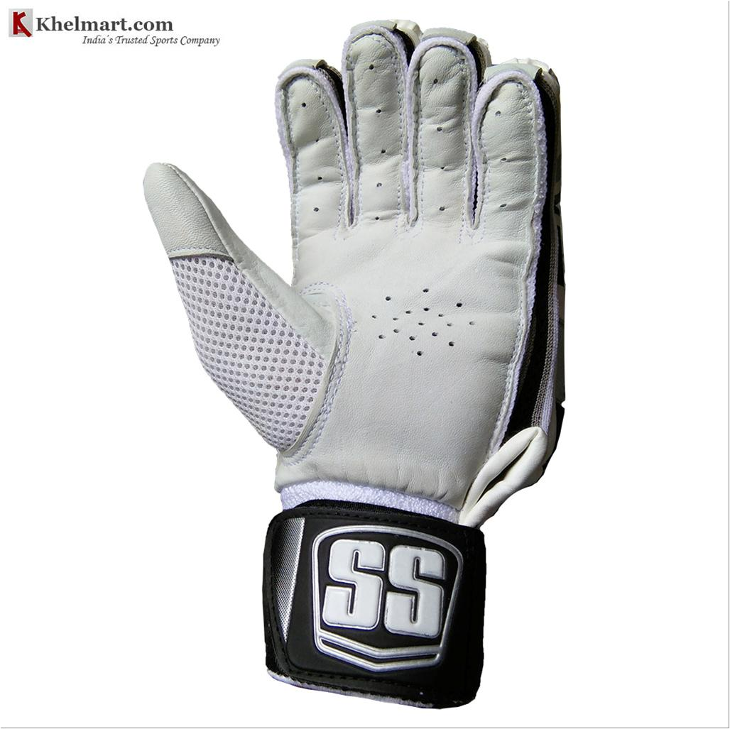 Ss Platino Cricket Batting Gloves White And Black Buy Ss