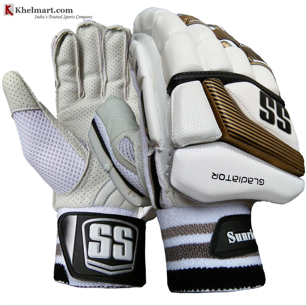 11c5f407754 SS Gladiator Cricket Batting Gloves White Black and Golden - Buy SS ...