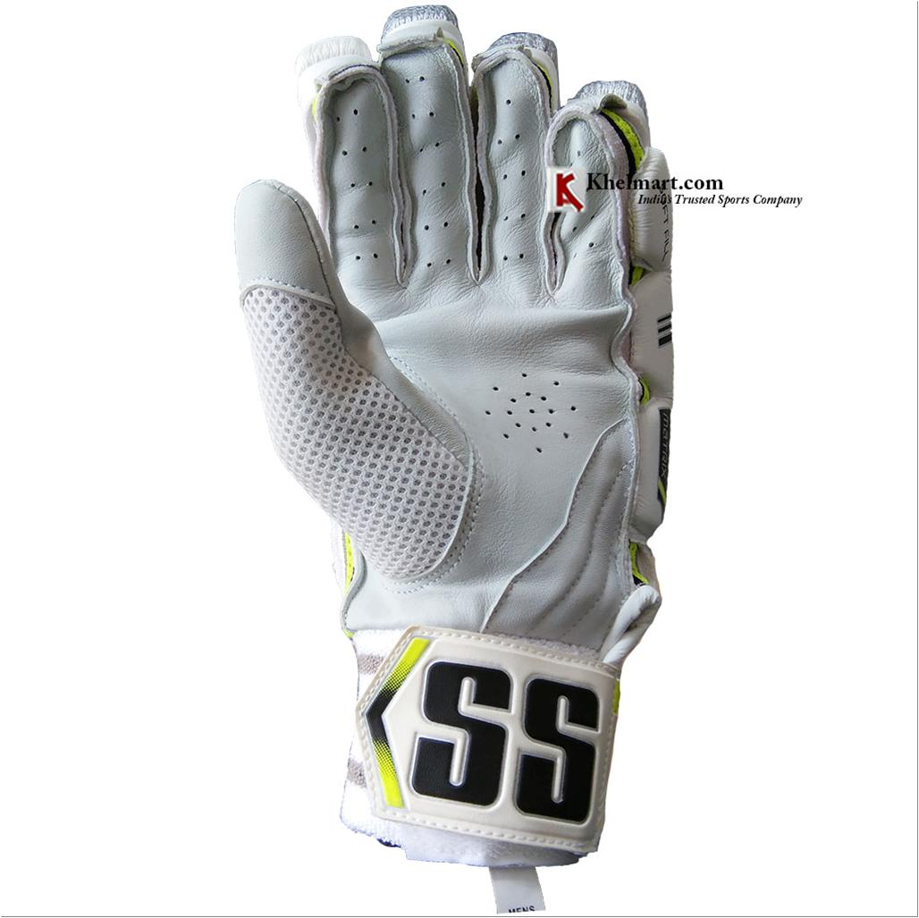 Ss Matrix Cricket Batting Gloves White Black And Lime