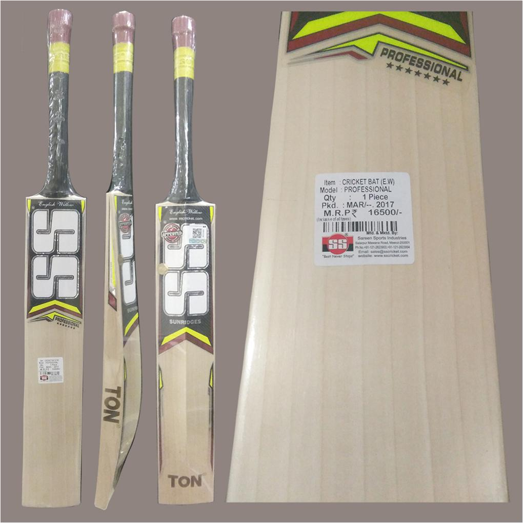 584d66d8a62 SS Ton Professional English Willow Cricket Bat Standard Size Free ...