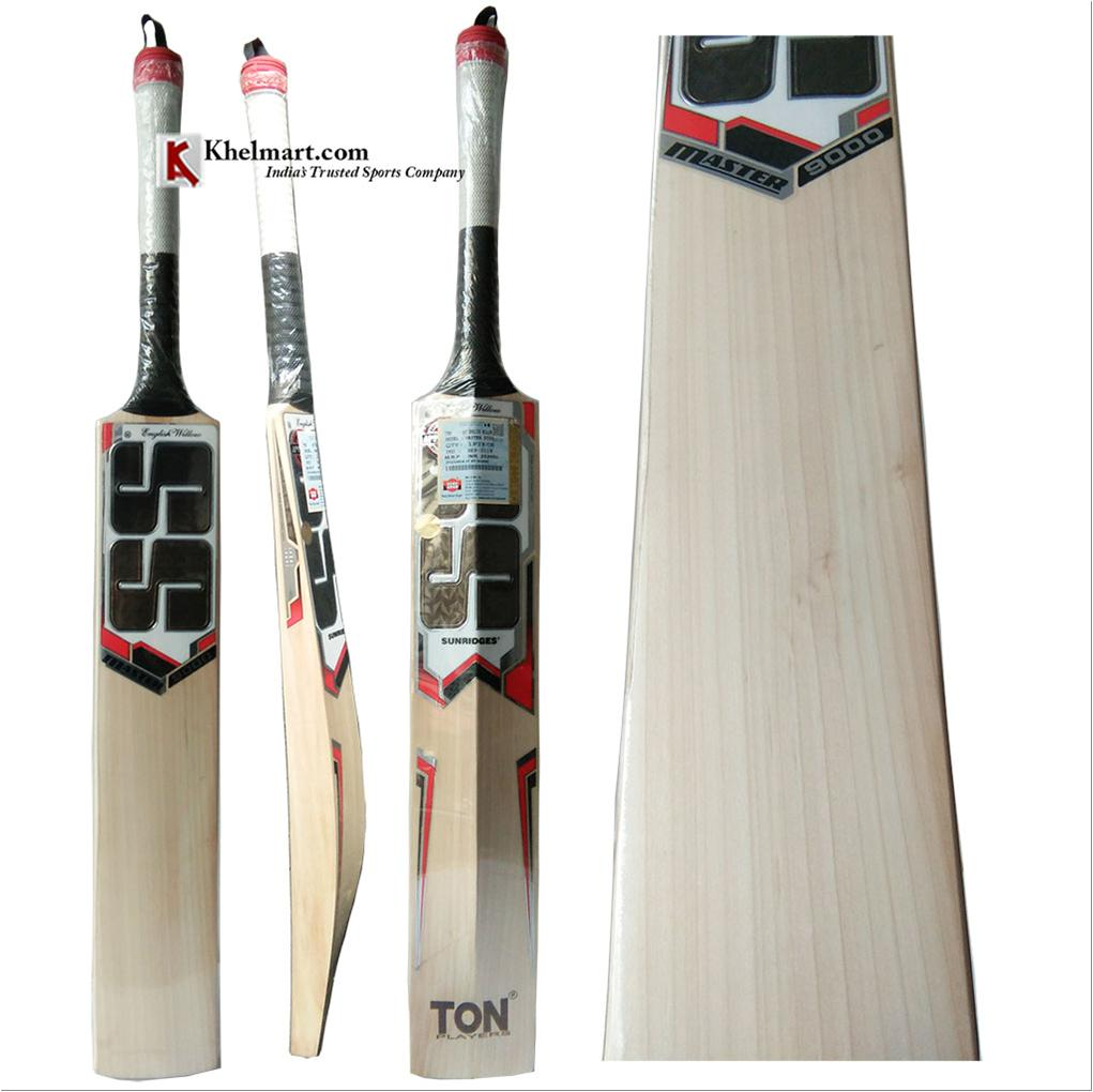e77d1e245 SS Master 9000 English Willow Latest 2018 Cricket Bat Free Oiling ...