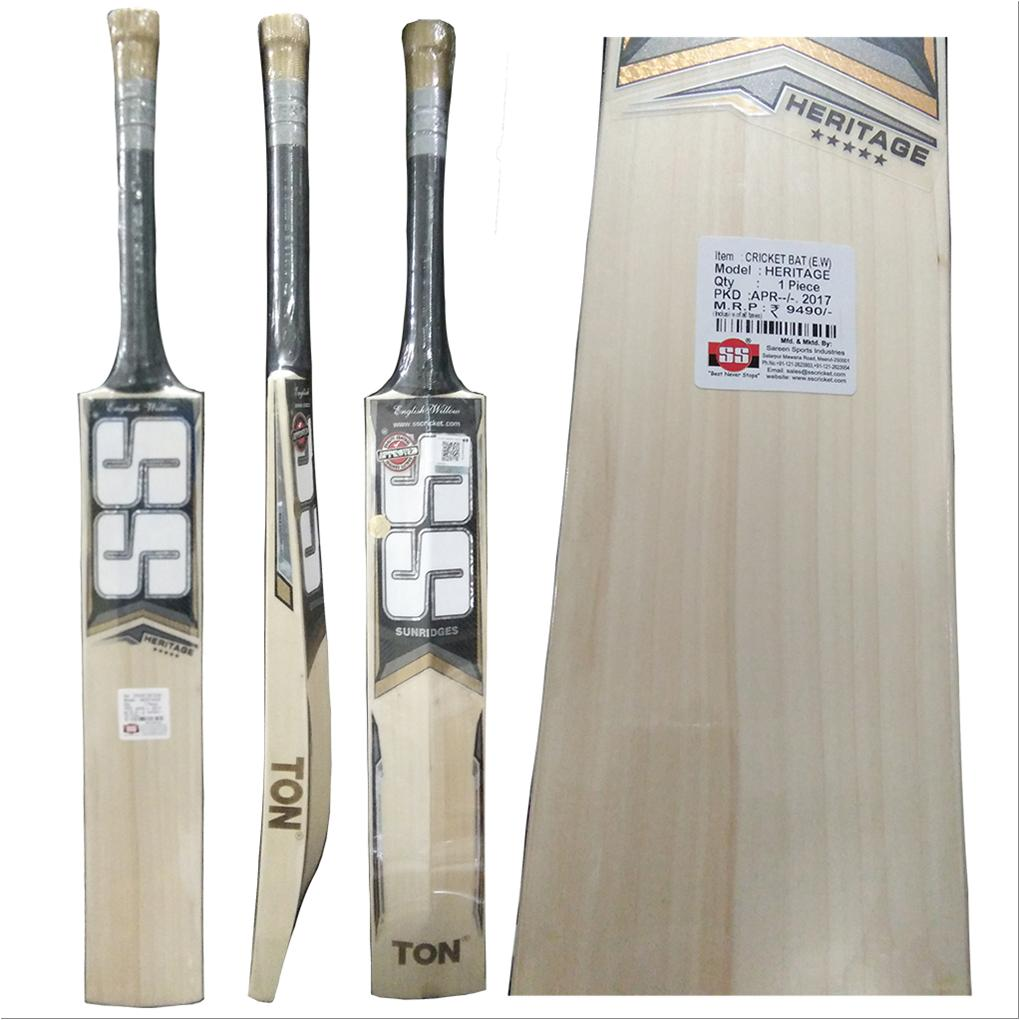 3bba9ad9432 SS Ton Heritage English Willow Cricket Bat Standard Size - Buy SS ...
