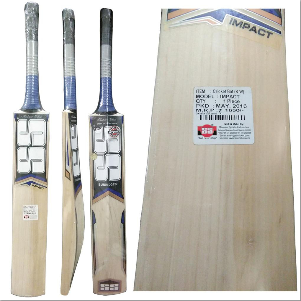 2977262ab99 SS Impact Kashmir Willow Cricket Bat Standard Size - Buy SS Impact ...