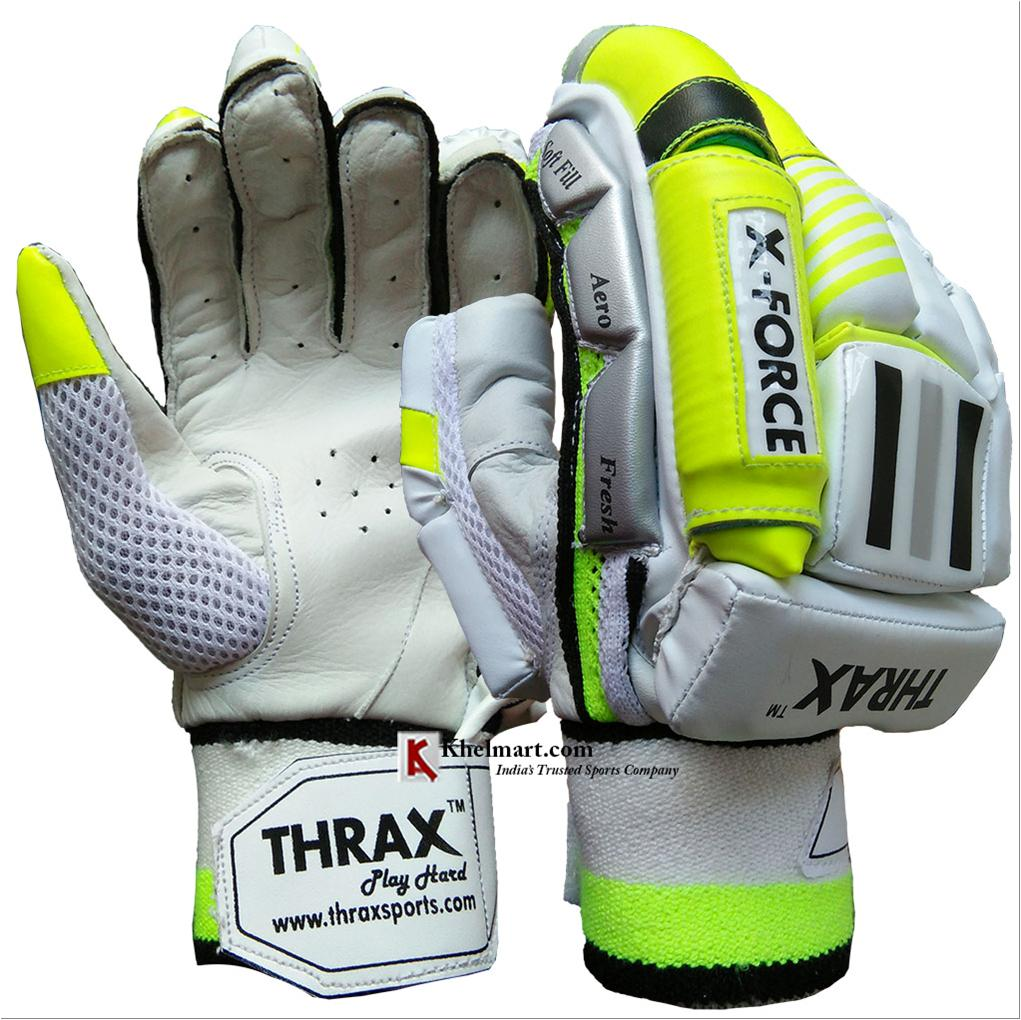 699e5f3b1c4 THRAX X Force Cricket Batting Gloves White and Lime - Buy THRAX X ...