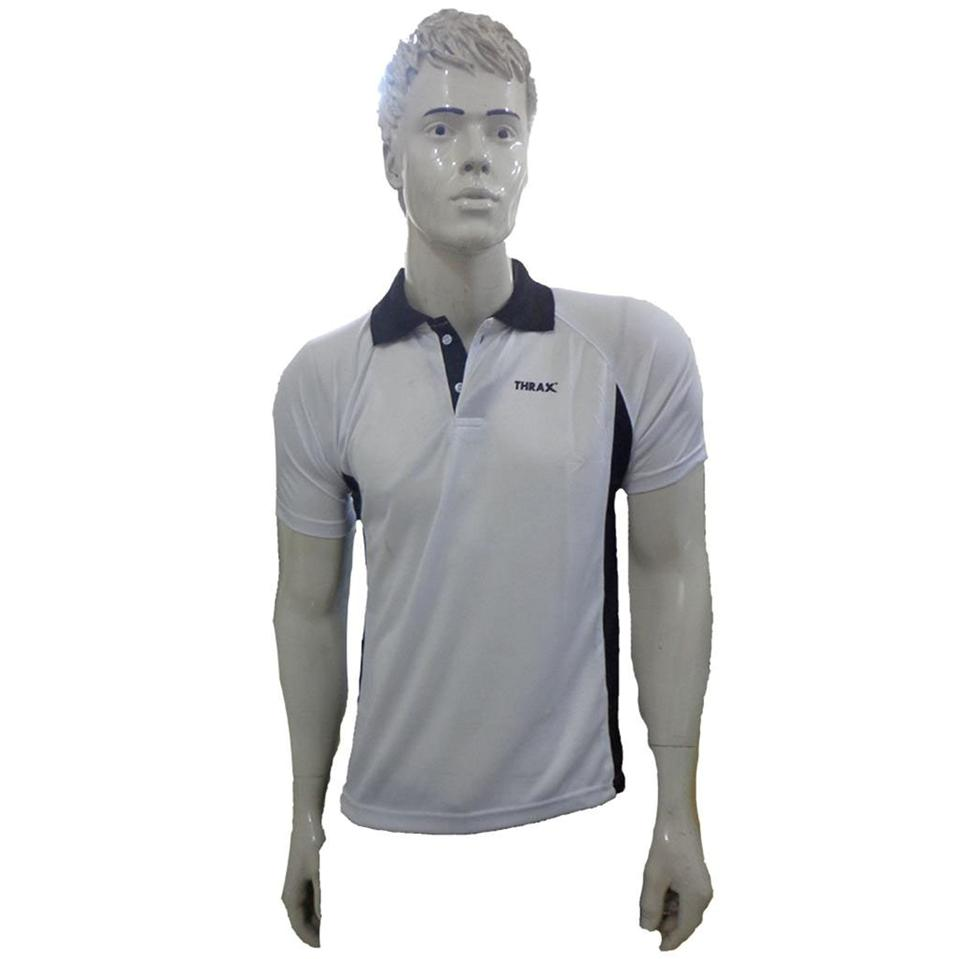8946fc335 Combo Offer Thrax 2 Badminton T shirt Black and White