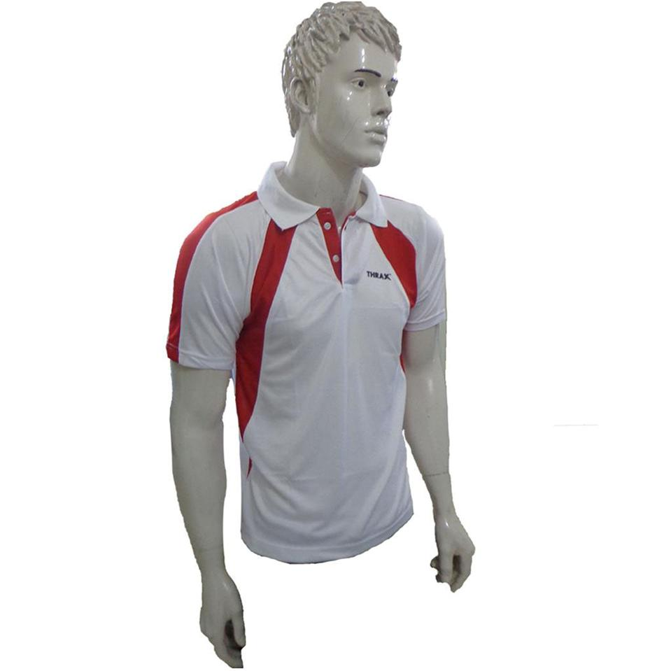 ba9146be6 Combo Offer Thrax 2 Badminton T shirt White  amp  Red