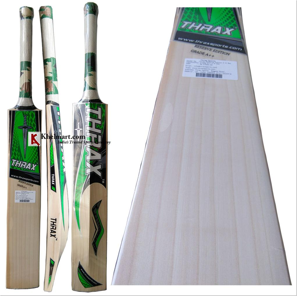 1e75f7c14b3 Thrax Reserve Edition English Willow Cricket bat - Buy Thrax Reserve ...