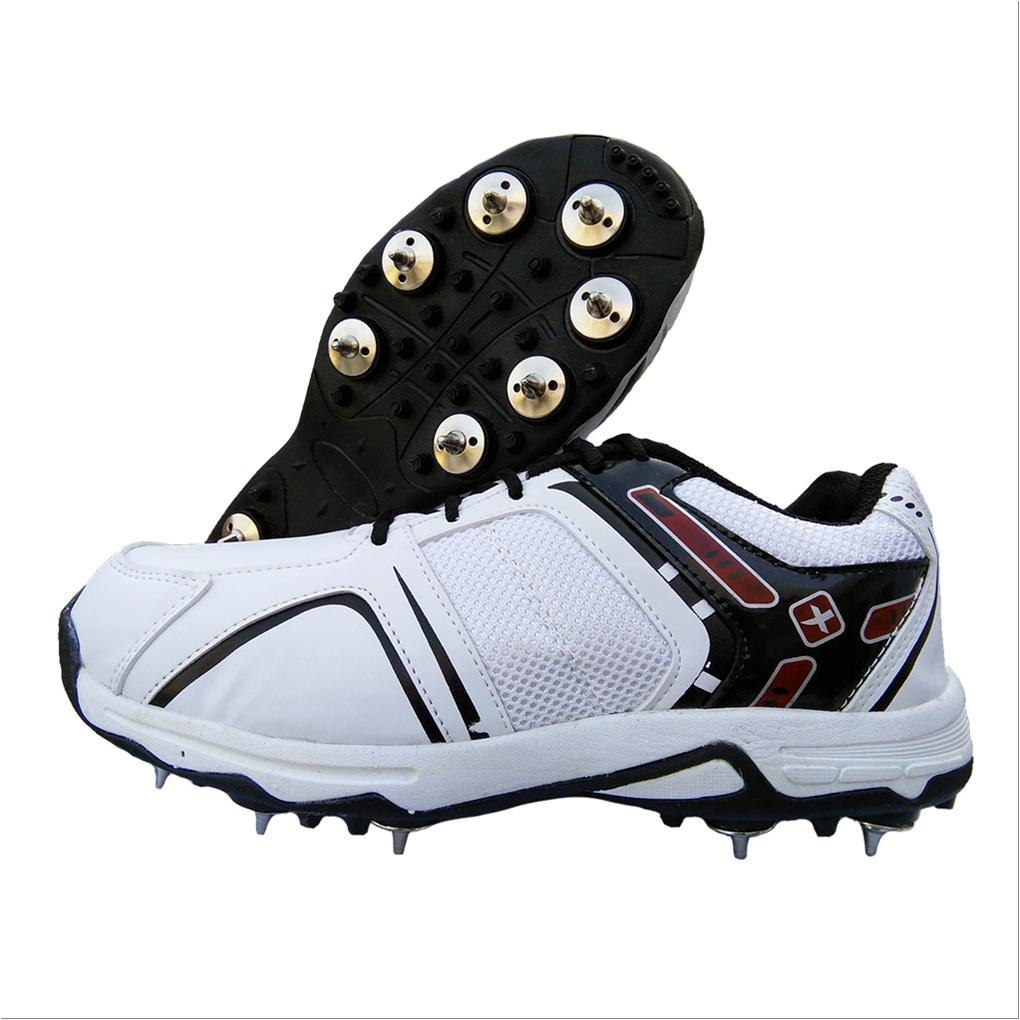 585548d625b71a Thrax Spike X Force Cricket Shoes White and Red - Buy Thrax Spike X ...