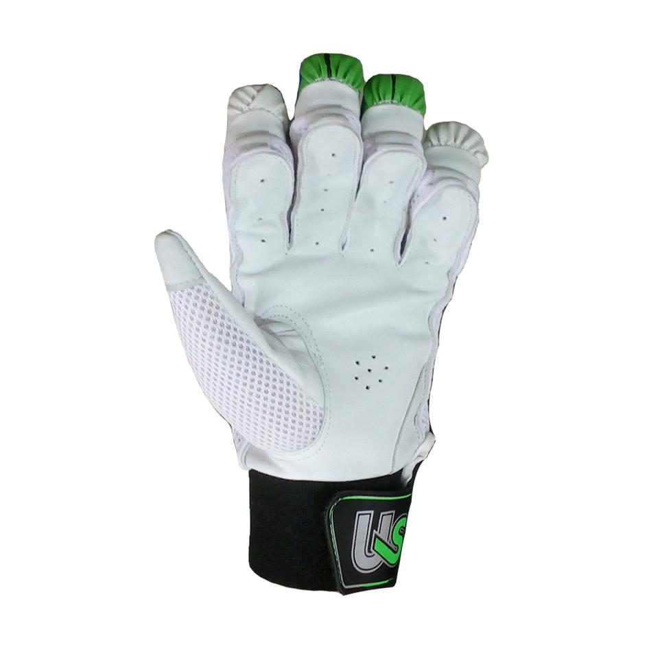 Us Electro Cricket Batting Gloves White Green And Black