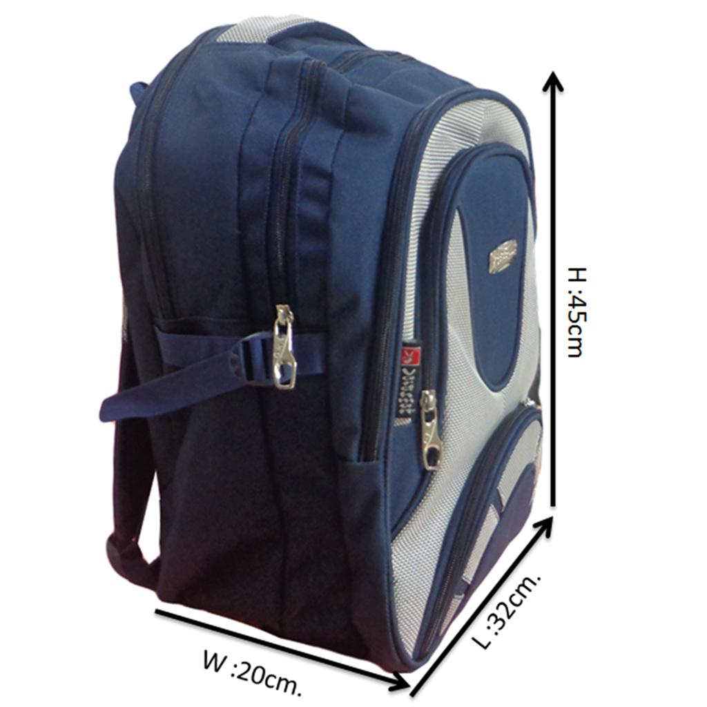Vdm Blue And Silver Casual Backpack Buy Vdm Blue And