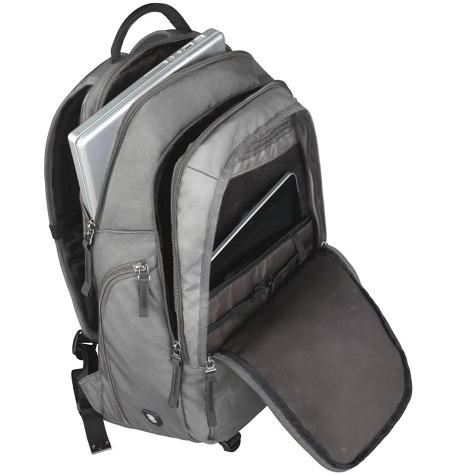 Victorinox Vertical Zip Laptop Backpack Gray Online At Lowest Prices In India Khelmart