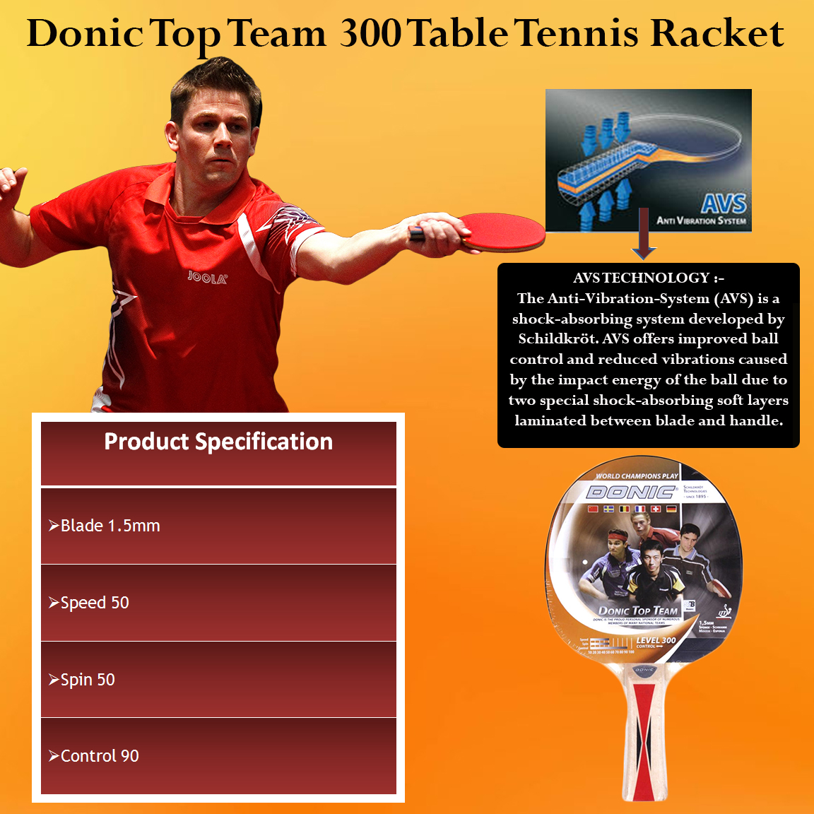 Donic Table Tennis Racket 751800 donic table tennis bat waldner 1000 Quotes