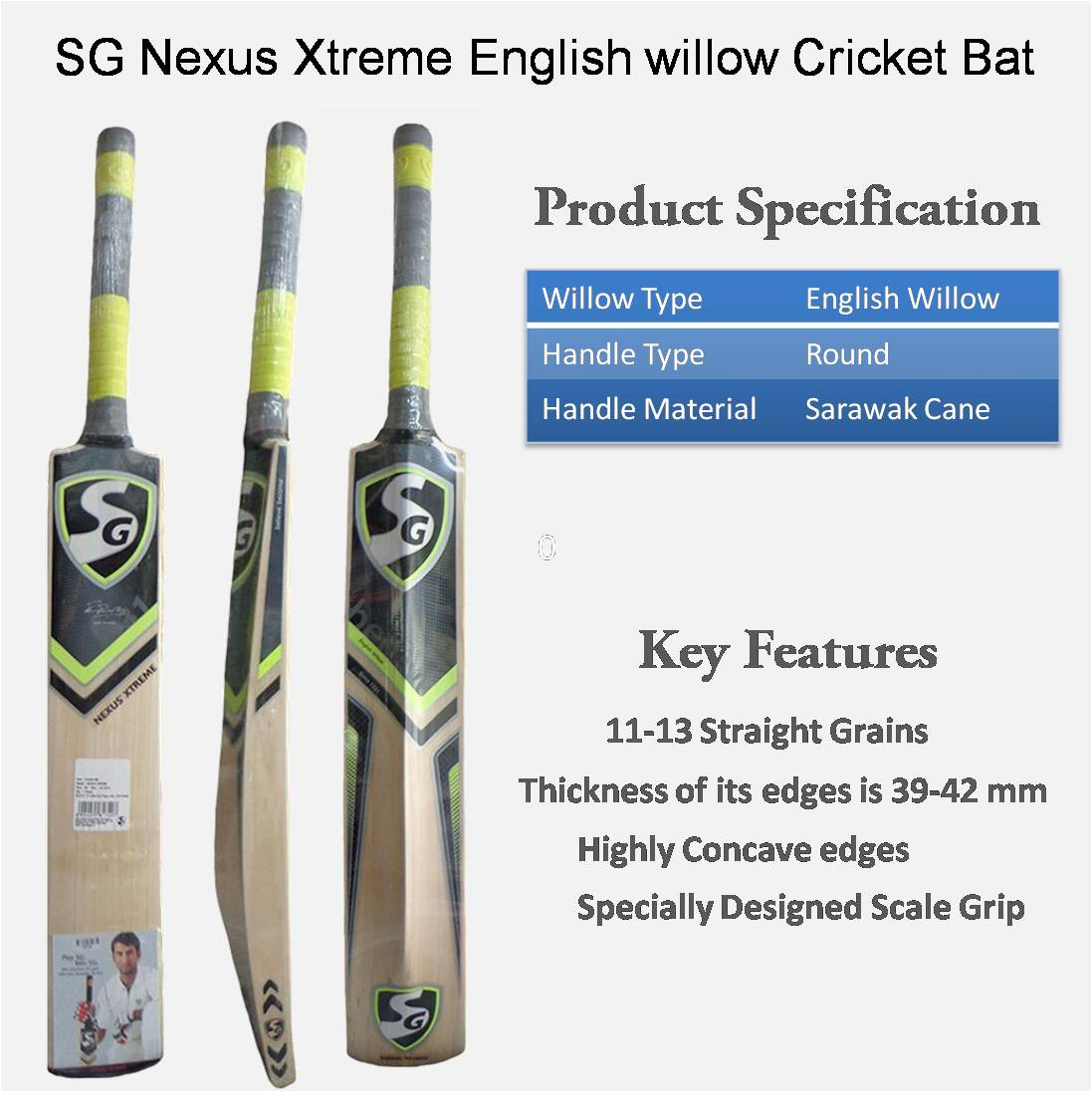 sg nexus xtreme english willow cricket bat standard size buy sg