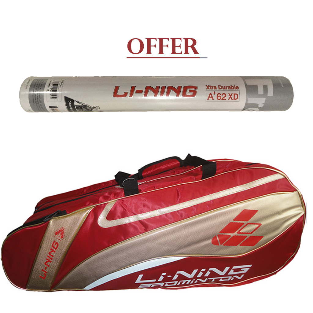 Offer Li Ning A Plus 62 XD Shuttle and Li Ning ABJF 076 Kitbag
