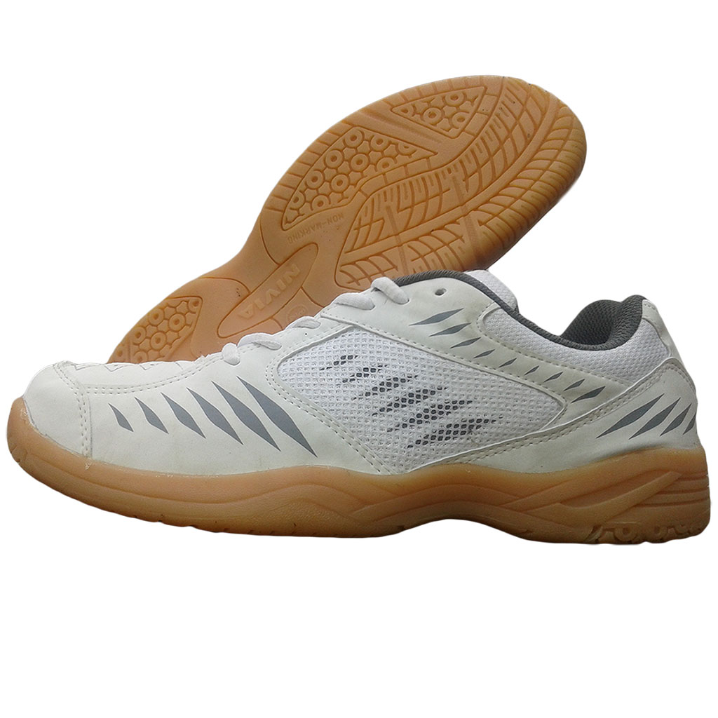 Nivia super Court White Badminton Shoe